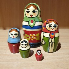 Zagorsk 5 piece Russian Doll