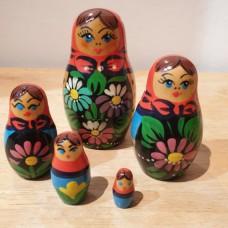 5 piece babushka nesting doll
