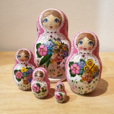 5 Piece Butterfly Russian Doll