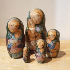"5 Piece Hand Painted Russian Doll ""Autumn Children"""