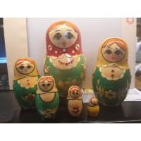 6 piece Russian Doll -Kirov Straw design