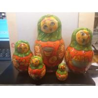 5 piece Krasnoarmeisk Russian Doll