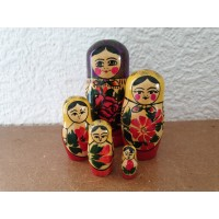 6 piece Green Semyenov Russian Doll