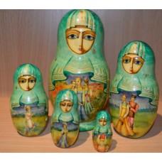 """5 Piece Russian Doll """"Belibin"""" Design"""