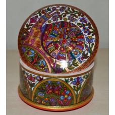Folk Art Painted hand painted Trinket box