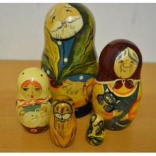 5 piece purple Polkhov Russian Doll