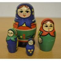 7 Piece Babushka yellow Russian Doll