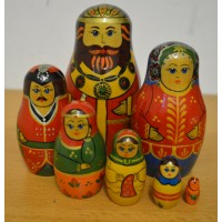 7 piece King and Queen Russian Doll