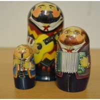 3 Piece Country Music russian dolls