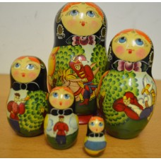 5 piece fairy story russian doll