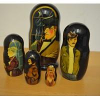 5 piece Sherlock Holmes Russian Doll