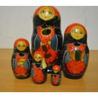 5 piece Sunflower russian doll