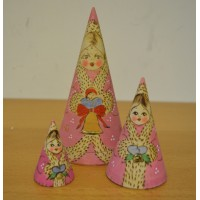 3 piece cone shaped Angel russian doll