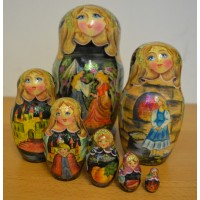 7 piece Cinderella design russian doll