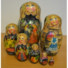 7 piece Cinderella design russian doll