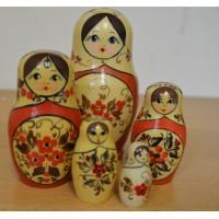 5 piece Flower russian doll