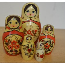 5 piece Flower russian doll