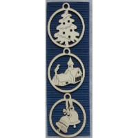 Hanging Decorations - Set of Three