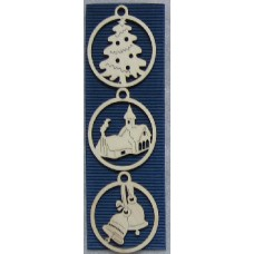 Hanging Decorations - Set of Three