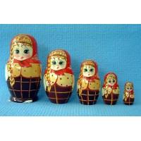5 piece Maschenka Russian Doll