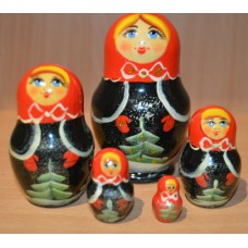 5 piece Russian Doll  - Tree