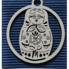 Russian Doll Hanging Christmas Decoration