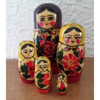 5 piece Mauve Semyenov  Russian Doll