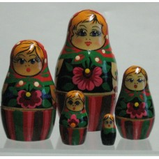 5 Piece Babushka Russian Doll