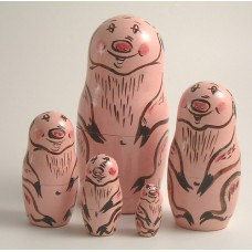 5 Piece Pig Russian Doll