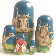 5 Piece Farm Russian Doll