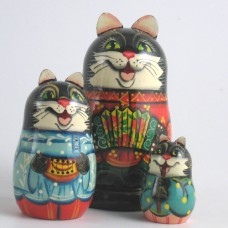 3 Piece Cat Russian Doll