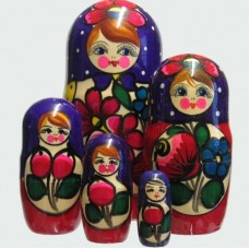 5 Piece Polkhov Russian Doll