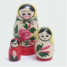 3 Piece Semyenov Russian Doll