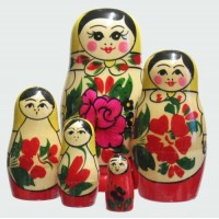 5 piece Semyenov  Russian Doll