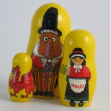 3 Piece Welsh Russian Doll