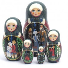 The Ice Maiden Fairy Story - 5 piece Russian Doll