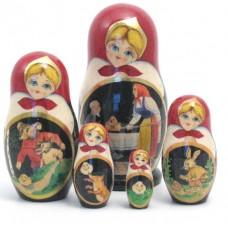 Kolobok Fairy Story 5 Piece Russian Doll