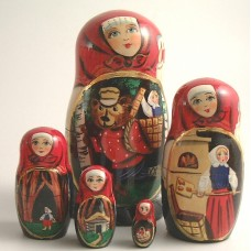 Masha and the Bear Fairy Story 5 Piece Russian Doll