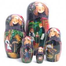 Red Riding Hood Fairy Tale 5 Piece Russian Doll