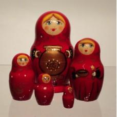 5 Piece Samovar Russian Doll